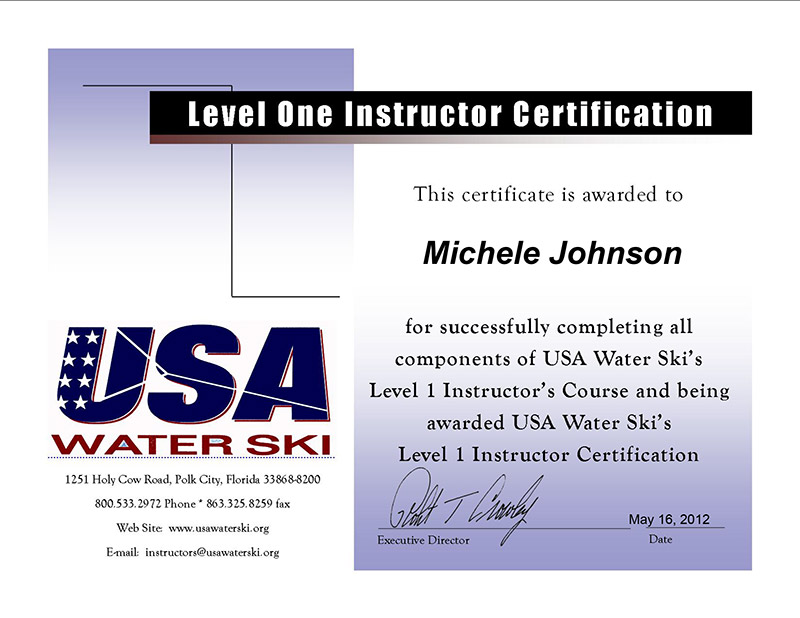 Our Certifications - Wakedrifter Watersports